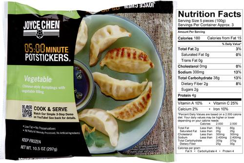 Joyce Chen 05:00 Minute Microwavable Potstickers®