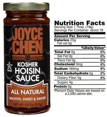 Joyce Chen Hoisin Sauce - All Natural, Kosher