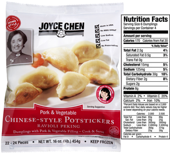 Joyce Chen Pork and Vegetable Home-Style Potstickers