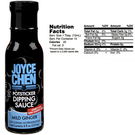 Mild Potsticker Dipping Sauce by Joyce Chen - Also Called Ginger Sauce
