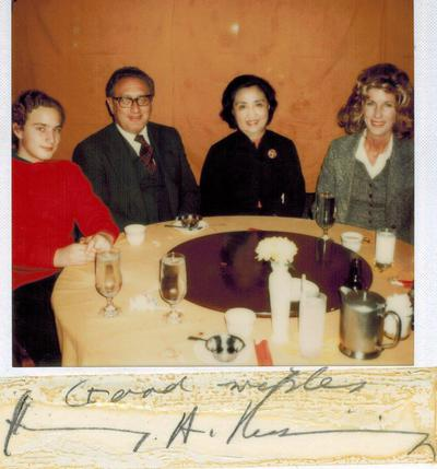 Henry Kissinger in Cambridge MA restaurant