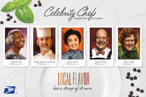 September 26 Release Celebrity Chef Stamps