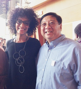 Carla Hall Stephen Chen Chicago Gourmet Show