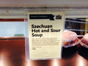 Whole Foods Features Szechuan Soup