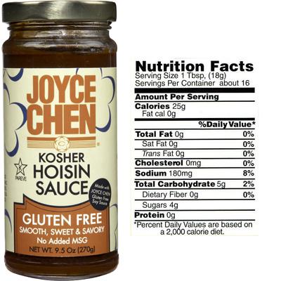 Joyce Chen Gluten Free Hoisin - Kosher Parve
