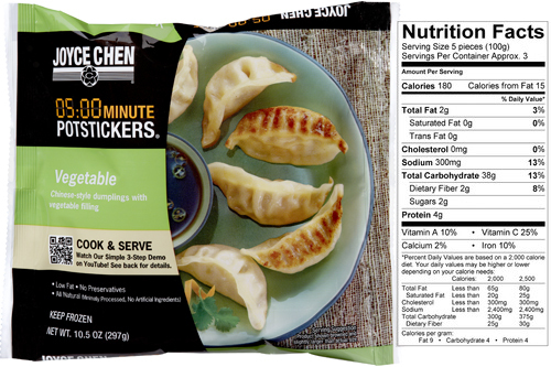 Vegetable Potstickers by Joyce Chen Convenient Meal