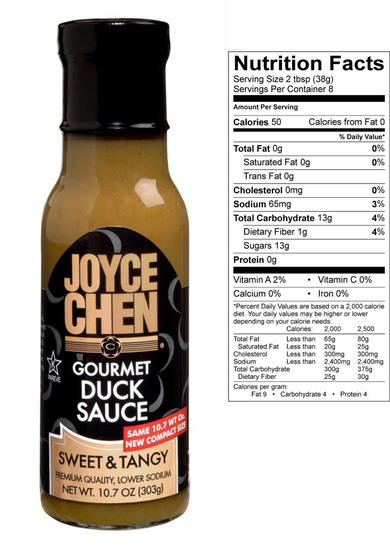 Gourmet Duck Sauce by Joyce Chen Sweet Tangy