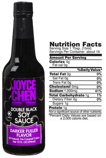 Joyce Chen Double Black Soy Sauce and Nutrition Facts