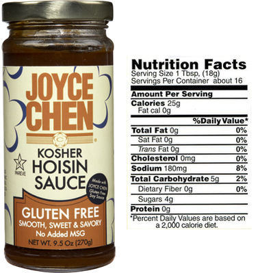 Gluten Free Hoisin Sauce for Celiac Disease