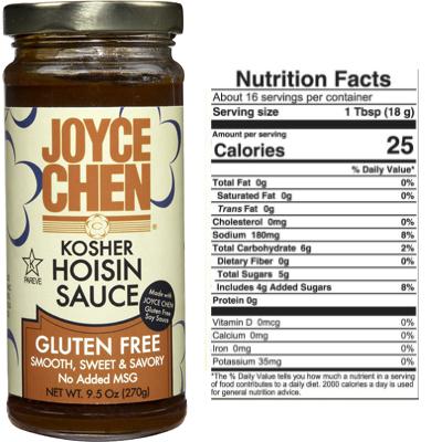 Gluten Free Hoisin by Joyce Chen Organic Beanss