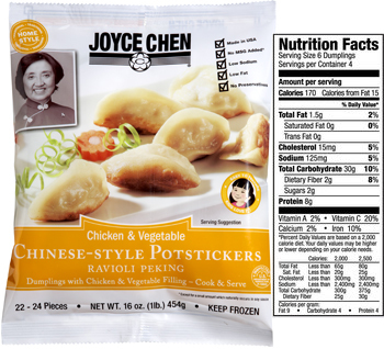Chinese food potstickers thick wrappers