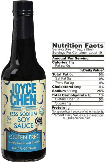 Gluten Free Soy Sauce by Joyce Chen less sodium