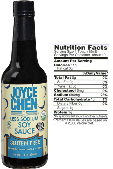 Gluten Free Soy Sauce by Joyce Chen less sodium