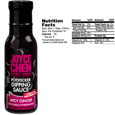 Joyce Chen Spicy Potsticker Dipping Sauce Ginger Sauce