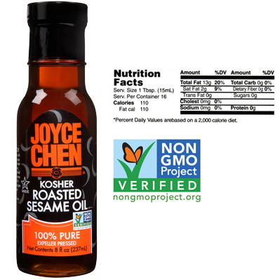 Joyce Chen 100% Pure Roasted Sesame Oil - Kosher Parve