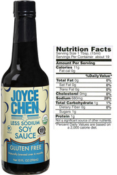 Joyce Chen Gluten Free Soy Sauce  Less Sodium Than Other Brands