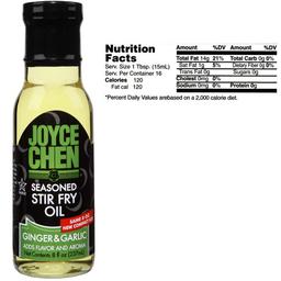 Joyce Chen Savory GingerGarlic Stir Fry Oil  Kosher Parve