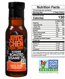 Joyce Chen Pure Roasted Sesame Oil  Kosher Parve