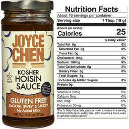 Joyce Chen Gluten Free Hoisin  Kosher Parve